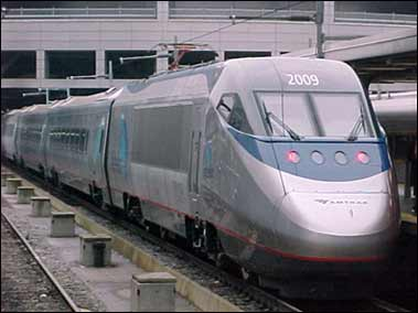 "Amtrak ""Acela"" high speed train"
