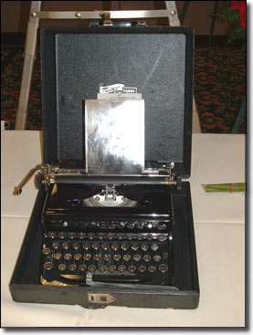 Gary Webb's first typewriter